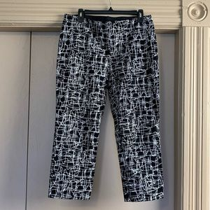 Alfani Black & White Abstract Skinny Trousers